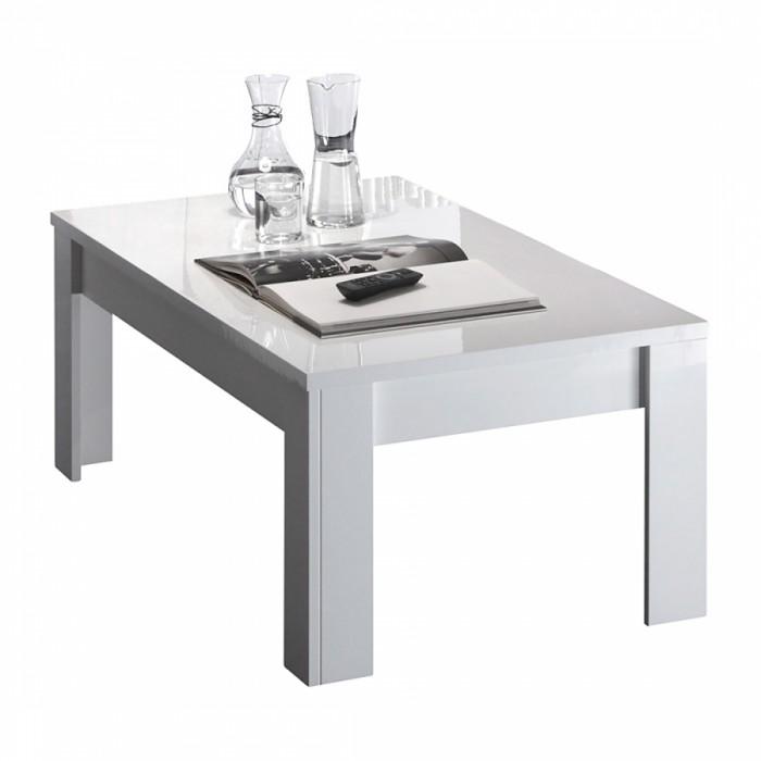 Salontafel Esso 122 cm breed in hoogglans wit