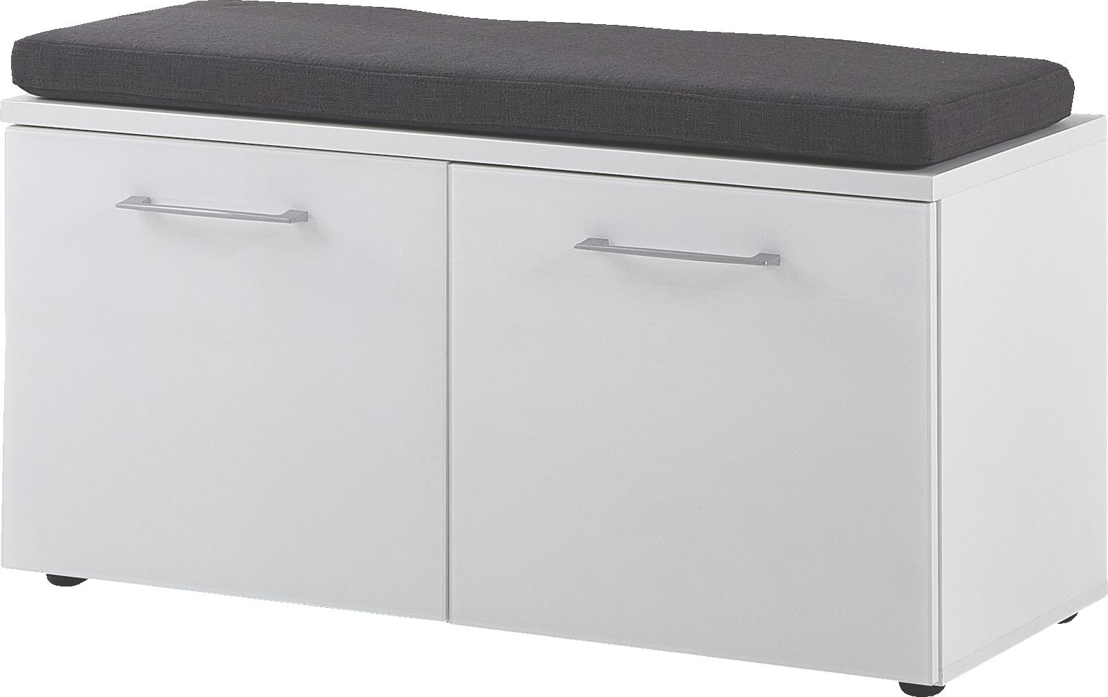 Schoenenbank Scalea 47 cm hoog in wit