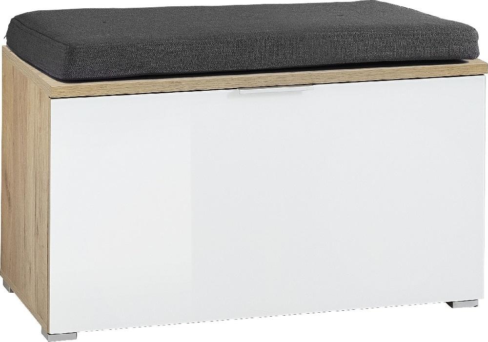 Schoenenbank Telde 49 cm hoog - Navarra eiken met wit