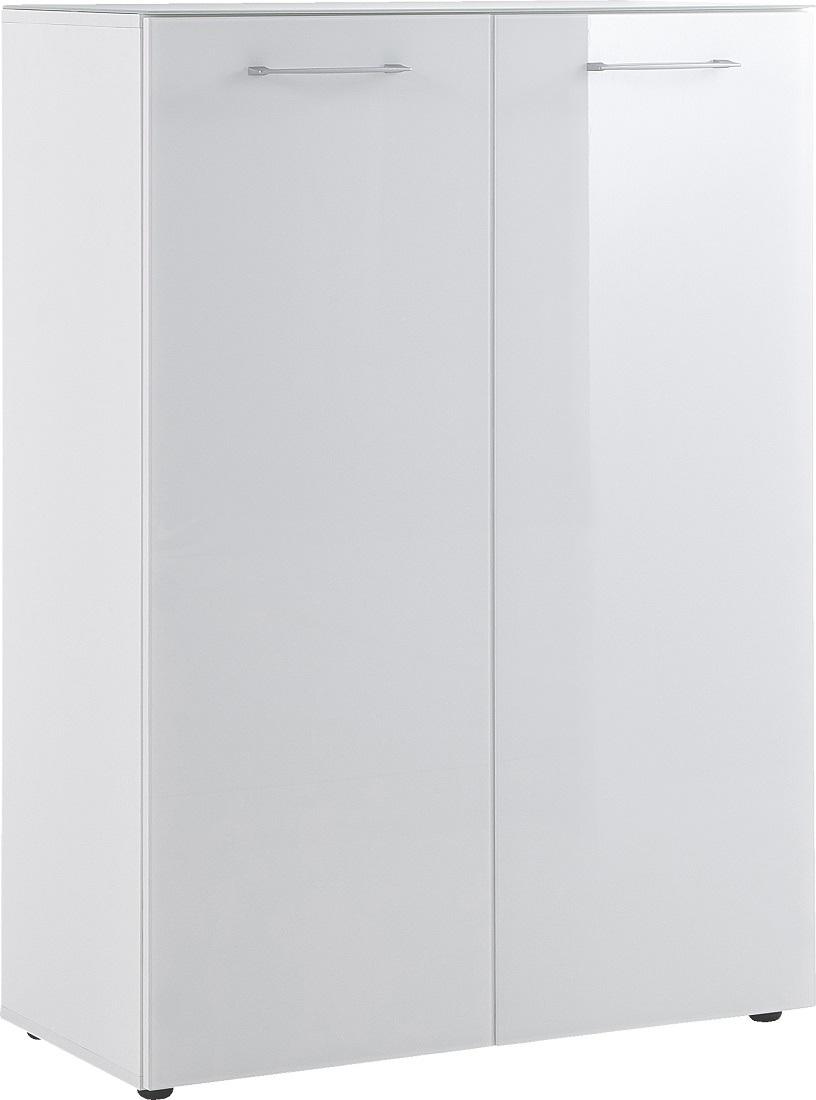 Schoenenkast Scalea 120 cm hoog - wit