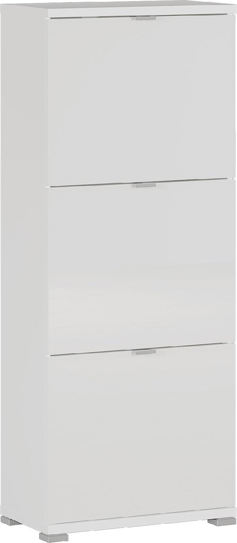 Schoenenkast Colorado 132 cm hoog in hoogglans wit