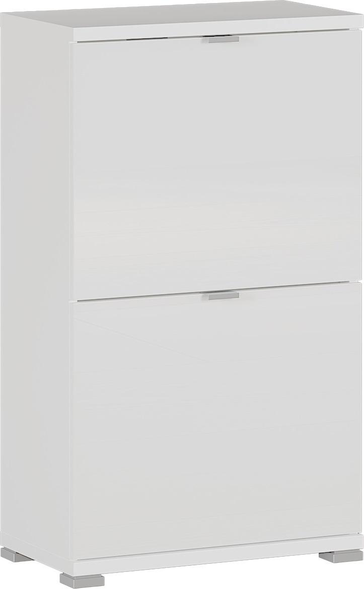 Schoenenkast Colorado 91 cm hoog in hoogglans wit