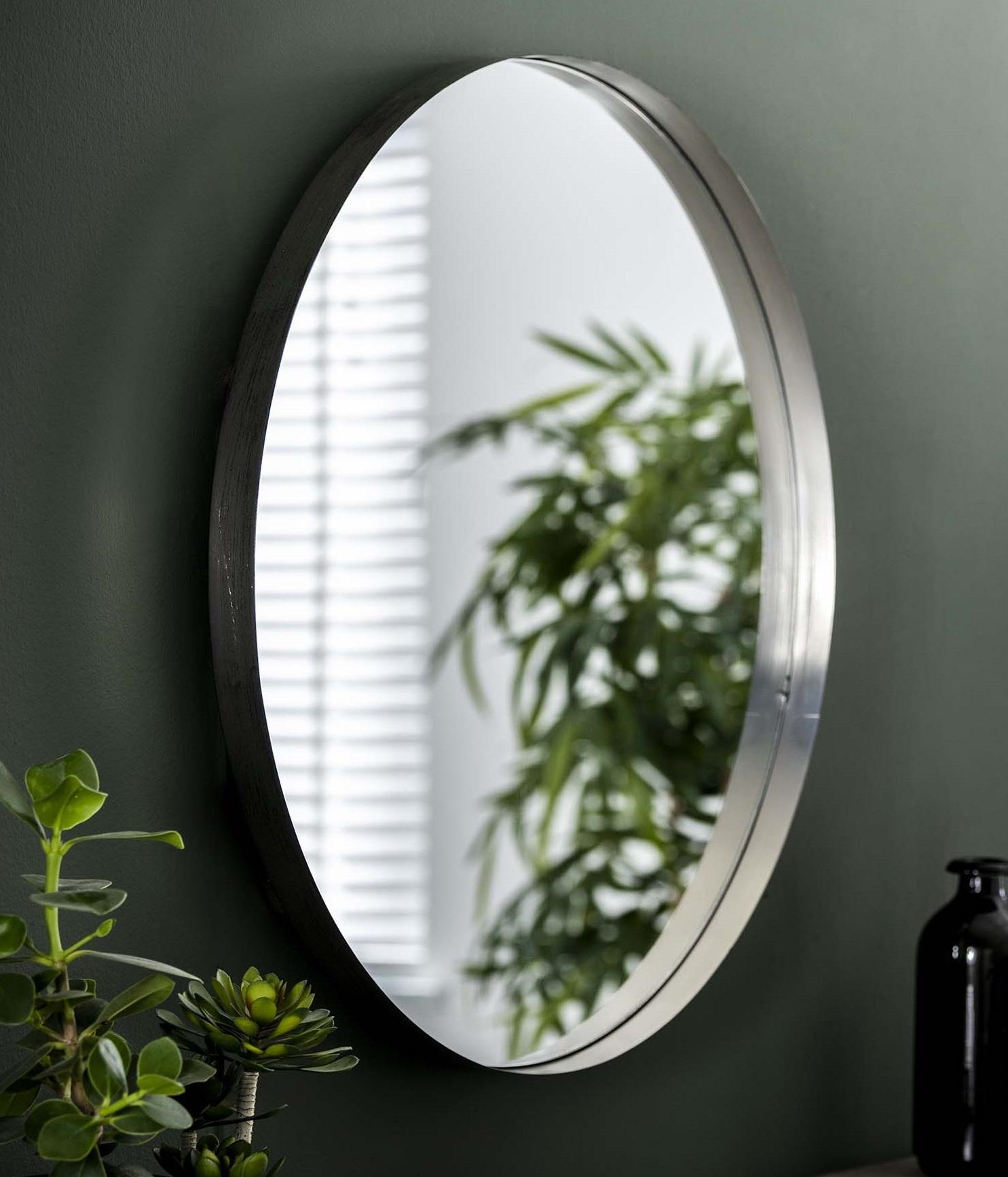 Spiegel Bling 75 cm breed in antiek nikkel