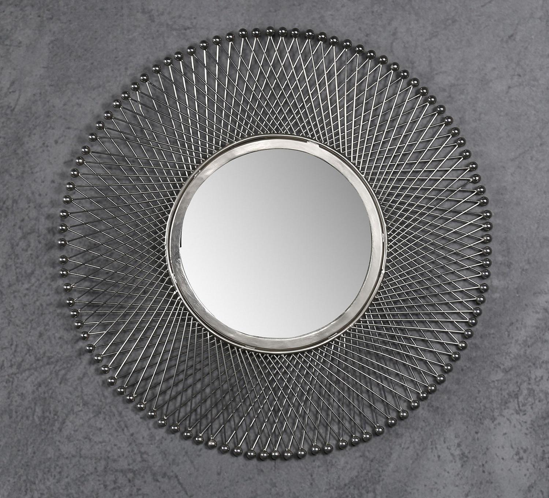 Spiegel Moon 50 cm breed in antiek nikkel