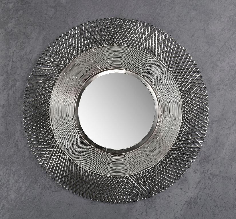 Spiegel Wizard 65 cm breed in antiek nikkel