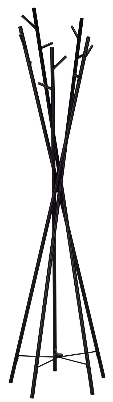 Staande kapstok Tower tree 180 cm hoog in zwart