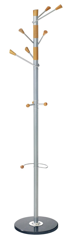Staande kapstok Turna 180 cm hoog in zilver