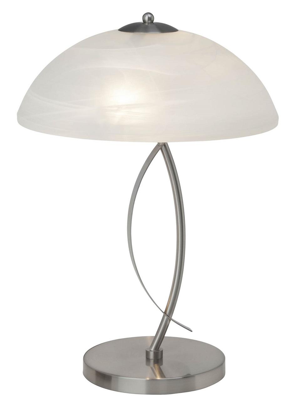 Tafellamp Baston 2xE14 max 40Watt in chroom met wit