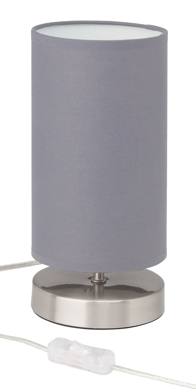 Tafellamp Charly 1xE14 max 40Watt in chroom met grijs