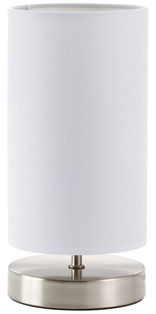 Tafellamp Charly 1xE14 max 40Watt in chroom met wit