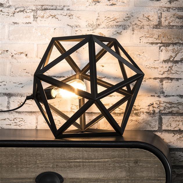 Tafellamp Danger triangle Zwart