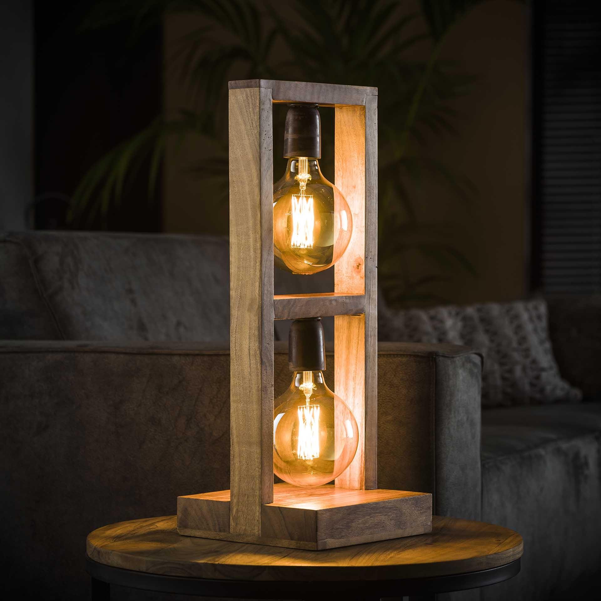 Tafellamp Modulo 58 cm hoog in acacia naturel