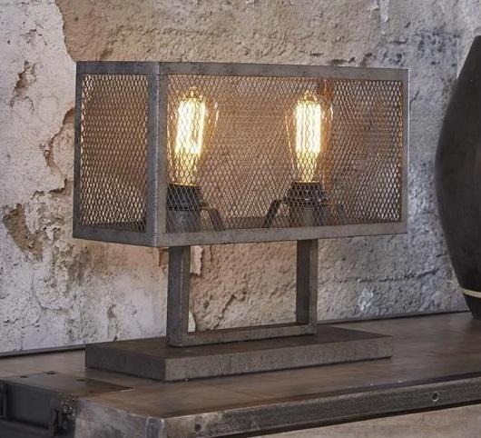 Tafellamp Raster 33 cm hoog - Zilver
