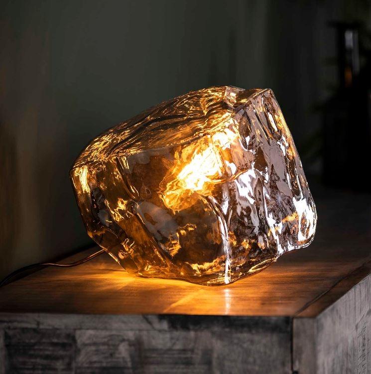 Tafellamp Rock Chroom 25 cm hoog