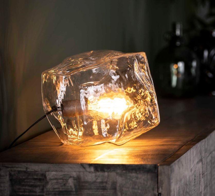 Tafellamp Rock glas 25 cm hoog