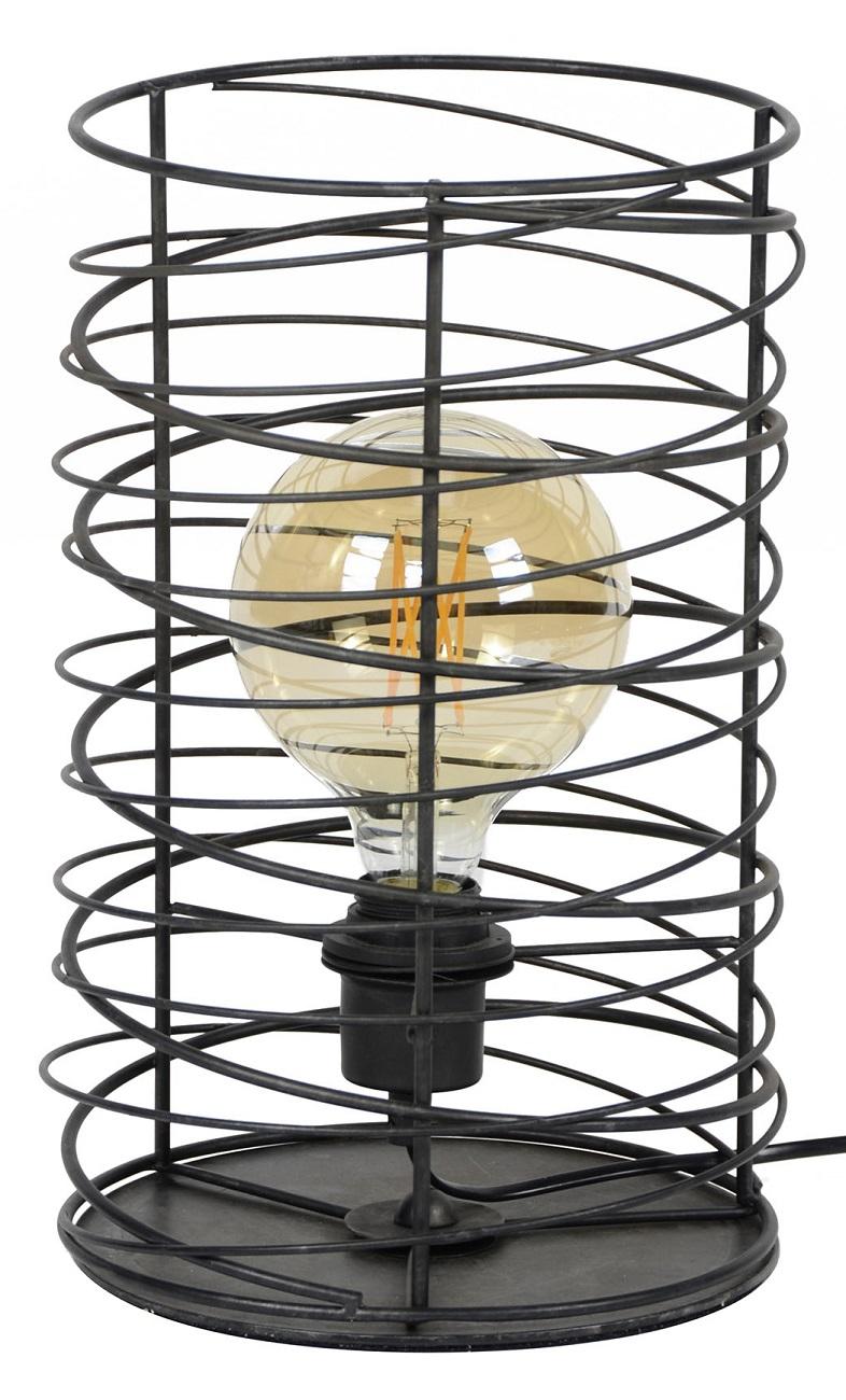 Tafellamp Willy Ø22 van 36 cm hoog in Charcoal
