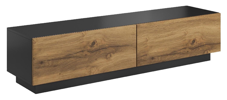 Tv-meubel Livo 160 cm breed in votan eiken met antraciet