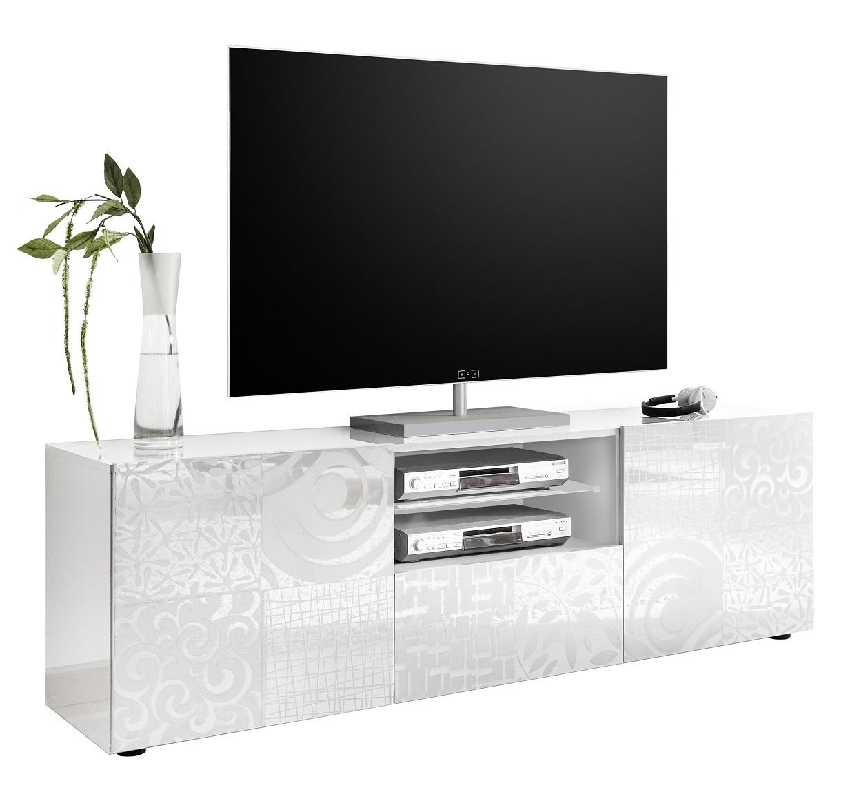 Tv-meubel Miro 181 cm breed in hoogglans wit