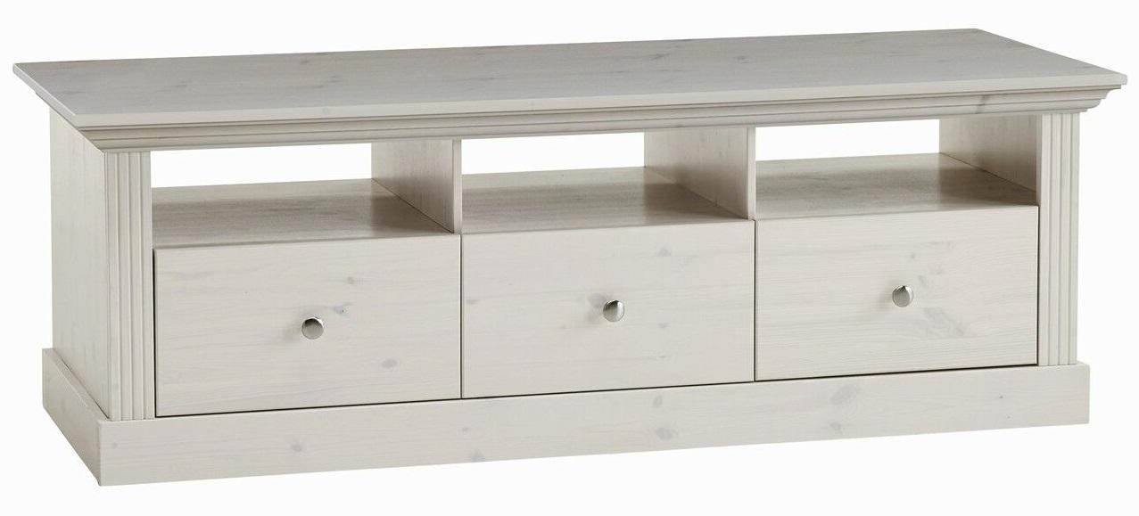 Tv-meubel Monaco 145 cm breed in wit whitewash