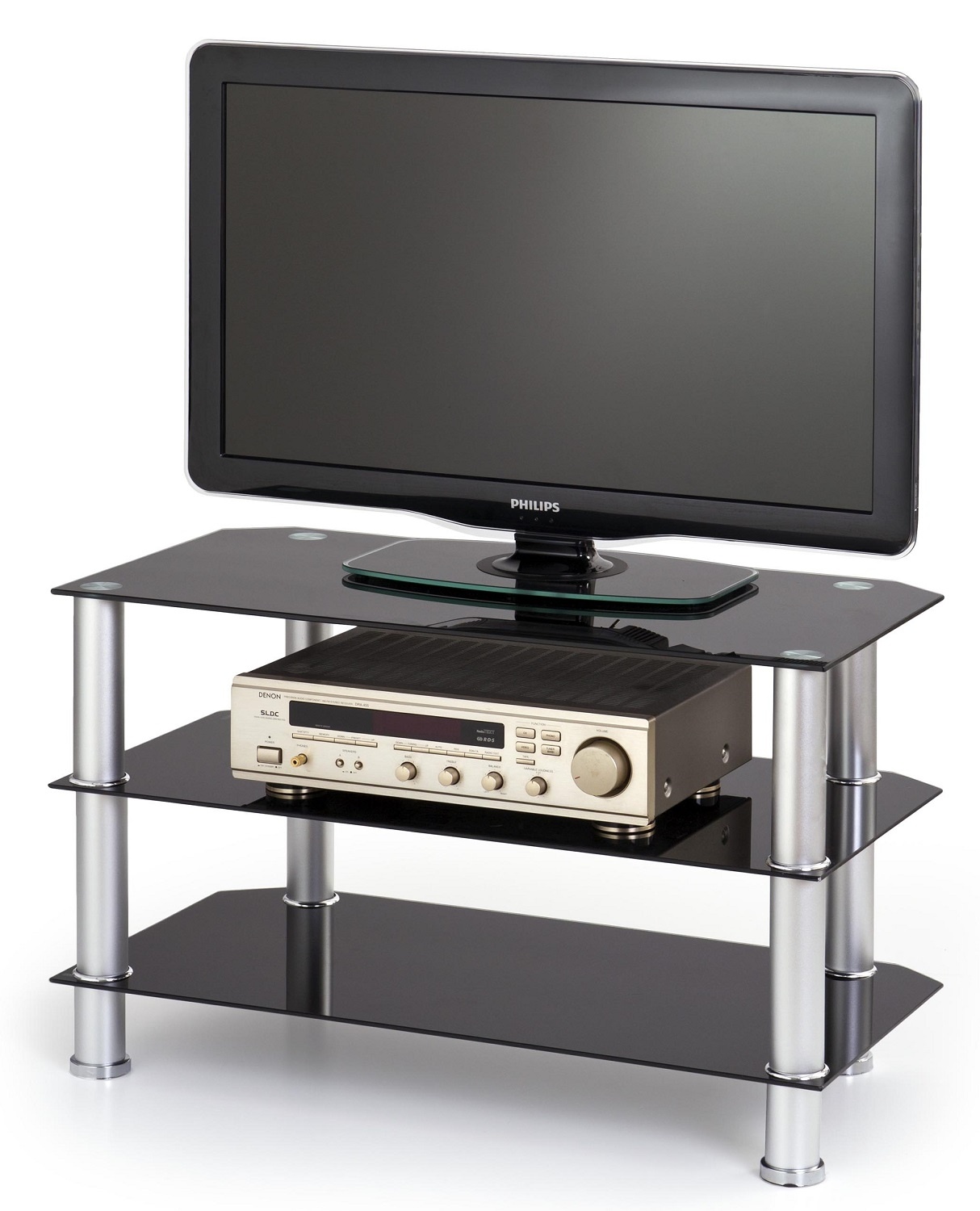 Tv-meubel Noki 80 cm breed in zwart