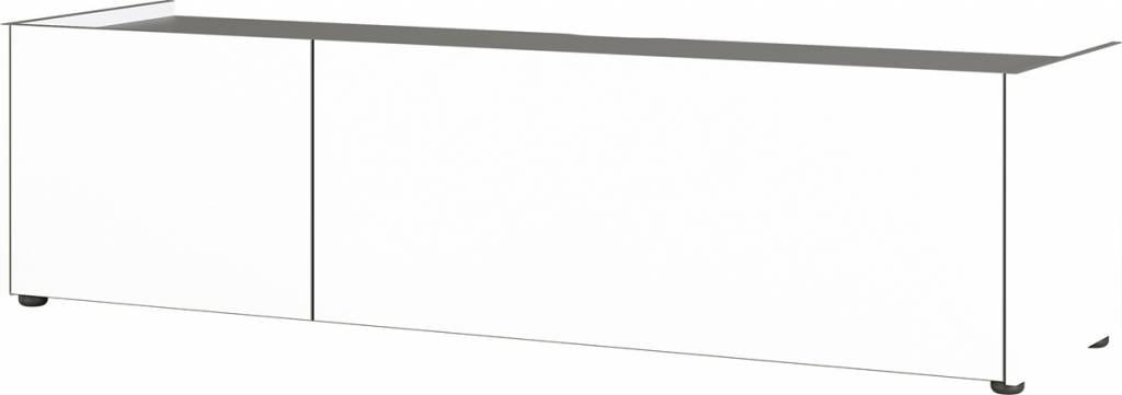 Tv-meubel Veluva 162 cm breed in wit met grafiet