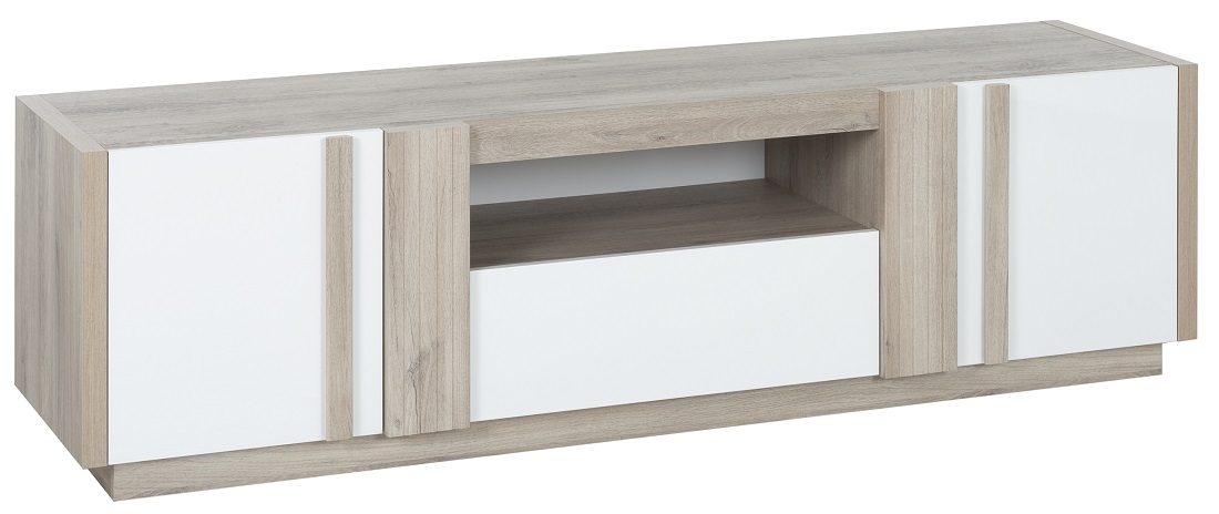 Tv Meubel Aston 180 Cm Breed In Kronberg Eiken Met Wit Reviews