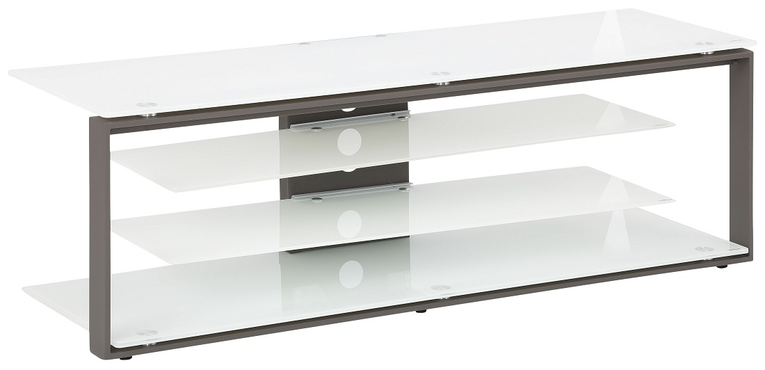 Tv-meubel Best 130 cm breed - Wit met antraciet