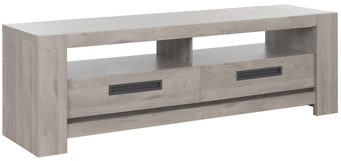 Tv-meubel Boston 182 cm breed in licht grijs eiken