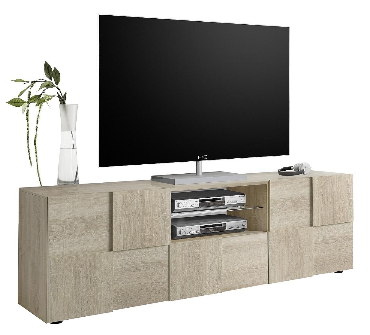 Tv-meubel Dama 181 cm breed in sonoma eiken