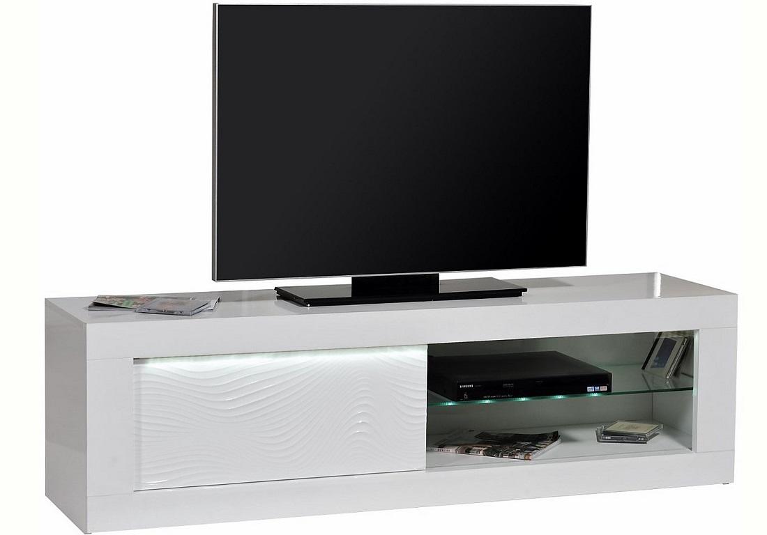 Tv meubel Karma 170 cm breed - Hoogglans wit