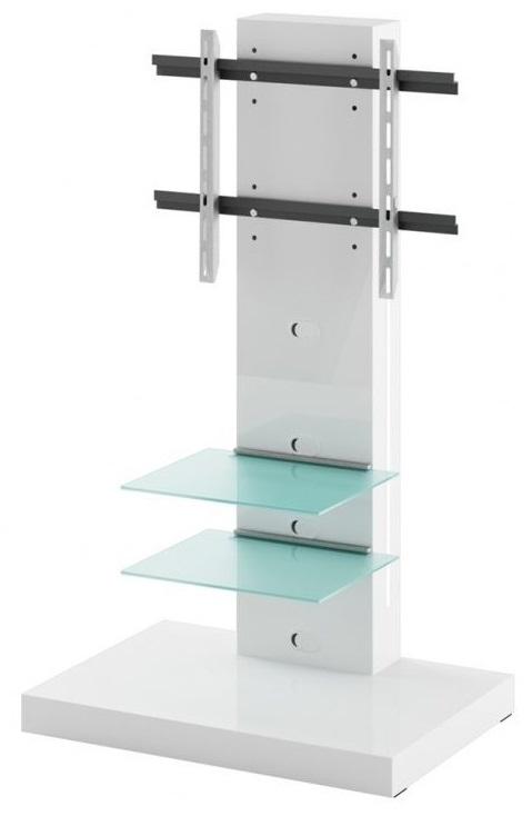 Tv-meubel Marino van 133 cm hoog in Hoogglans wit