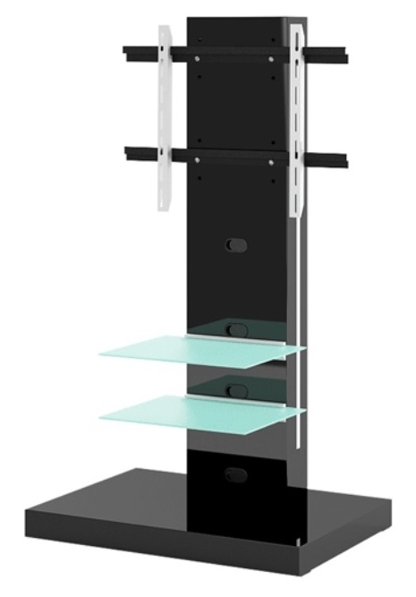 Tv-meubel Marino van 133 cm hoog in Hoogglans zwart