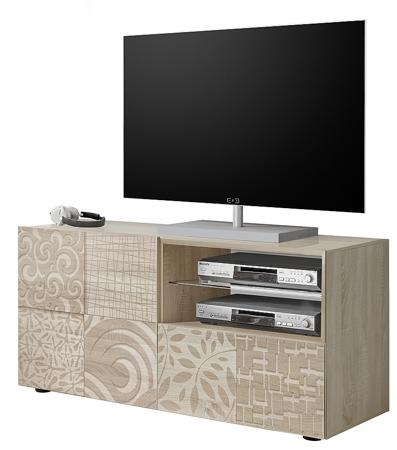 Tv-meubel Miro 121 cm breed in sonoma eiken