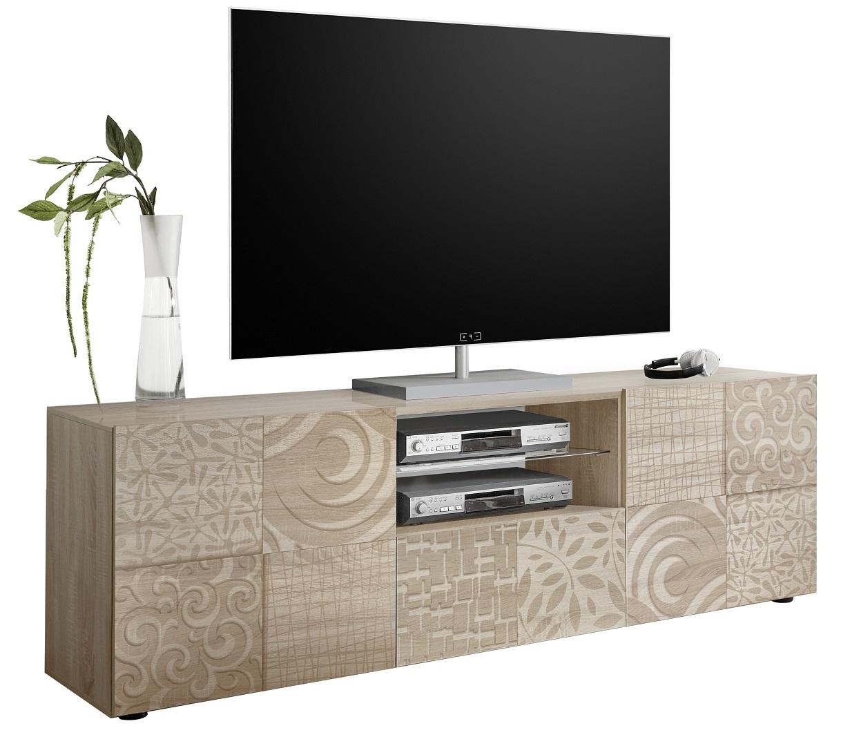 Tv-meubel Miro 181 cm breed in sonoma eiken