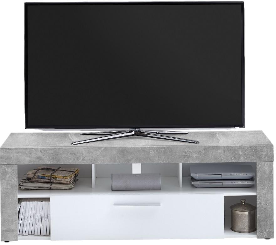 TV Meubel Raymond 150 cm breed - grijs beton met wit