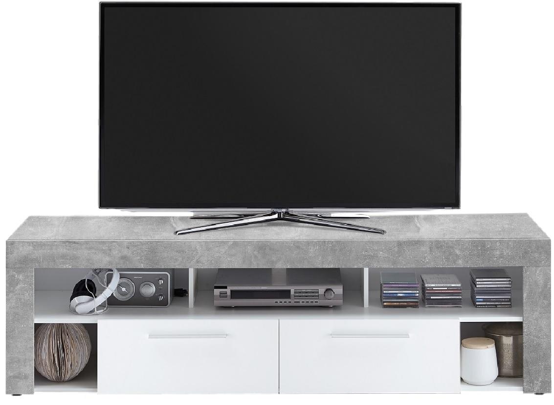 TV Meubel Raymond 180 cm breed - grijs beton met wit
