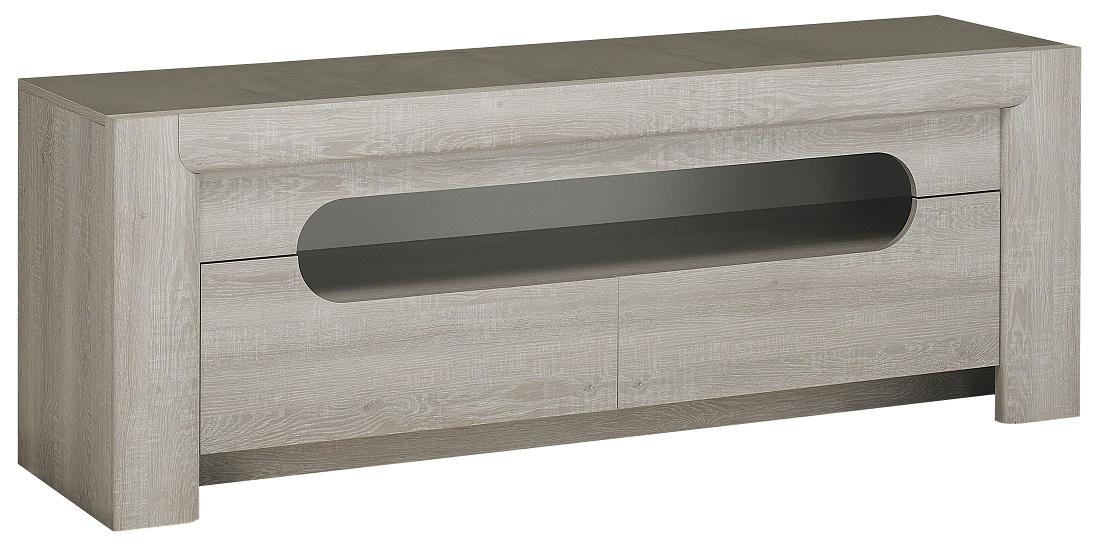 Tv meubel Sandro 160 cm breed in licht grijs eiken