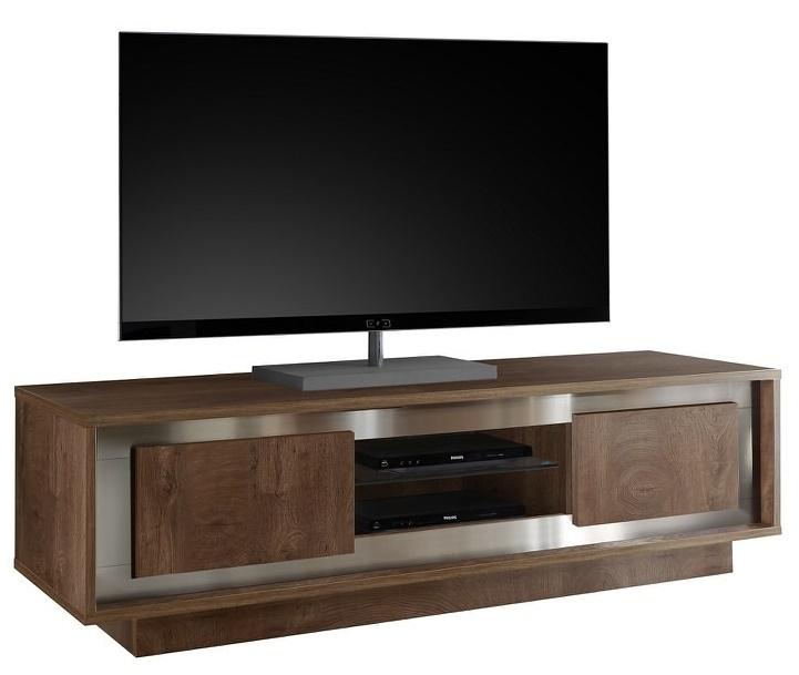 Tv-meubel SKY 156 cm breed in Cognac bruin