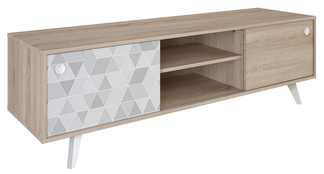 TV meubel Slide 151 cm breed - Shannon eiken