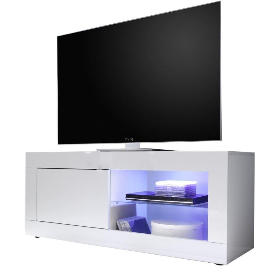 Tv meubel Tonic 140 cm breed in hoogglans wit
