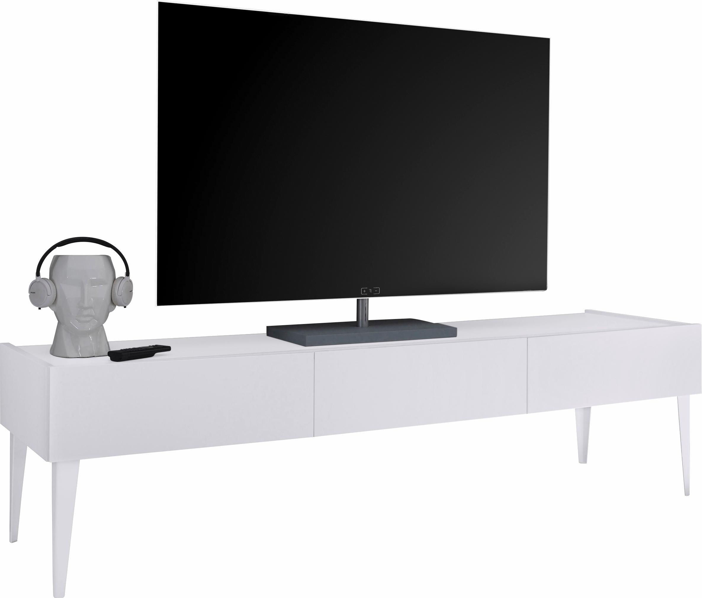 Tv meubel Vespa large met voeten - Mat wit