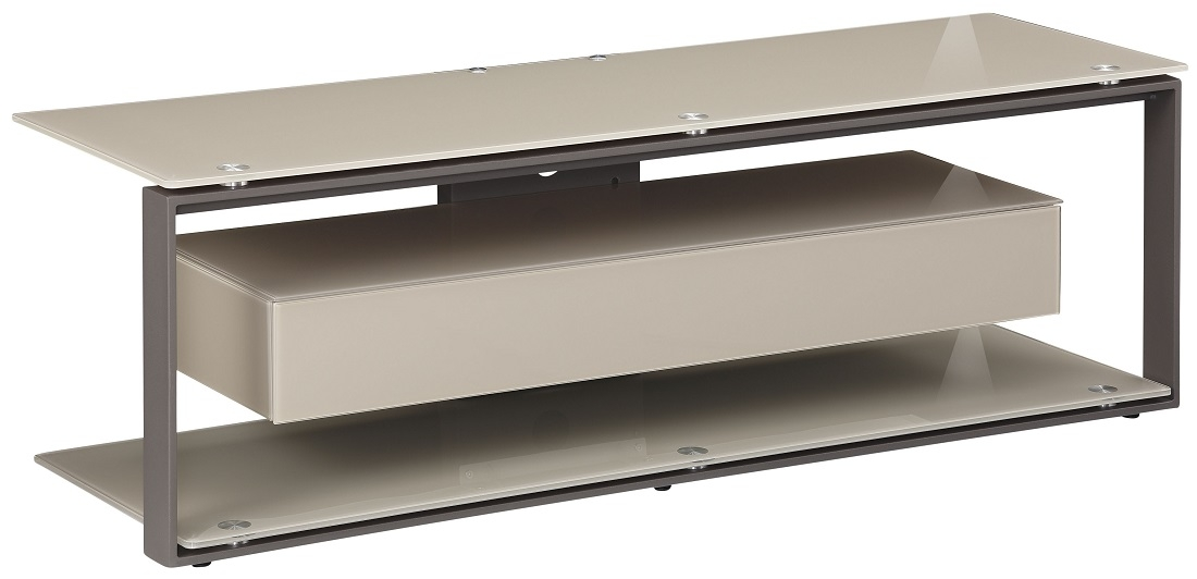 Tv meubel Yas 130 cm breed - Zand met antraciet