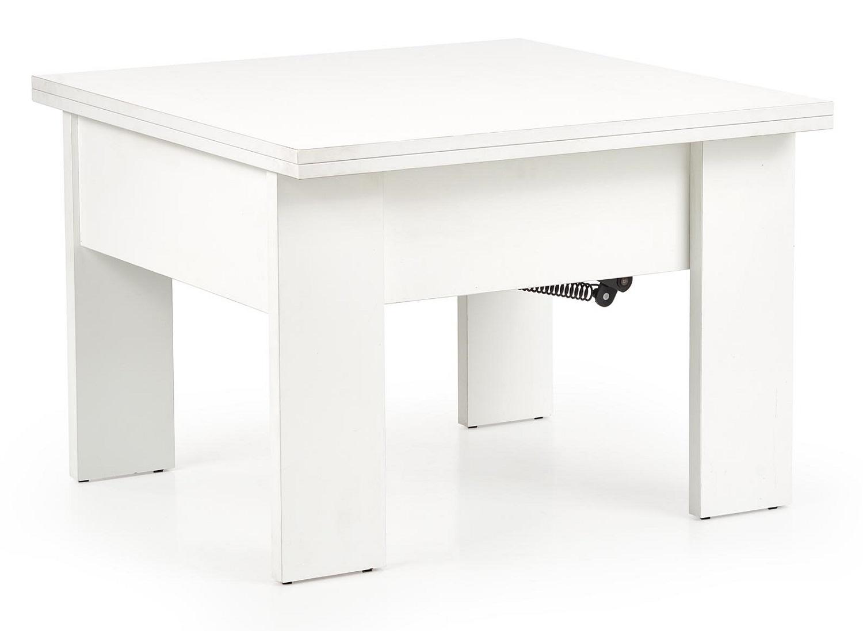 Uitklapbare salontafel Sefarin 80 tot 160 cm breed in wit