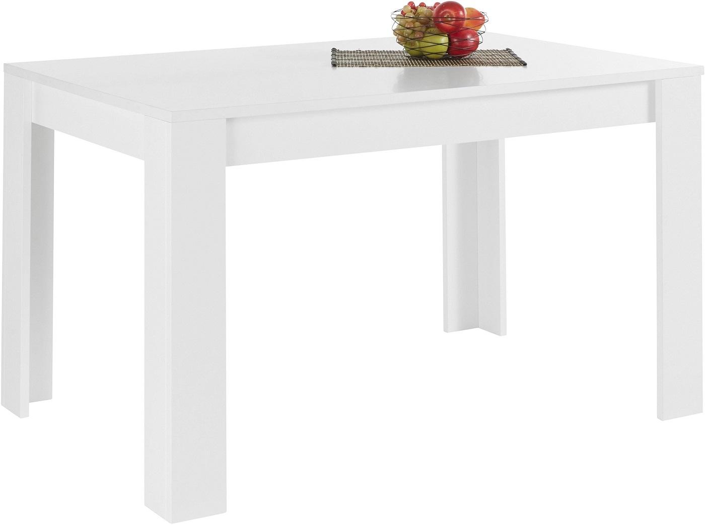 Uitschuifbare Eettafel Firenze 180 tot 228 cm breed in mat wit