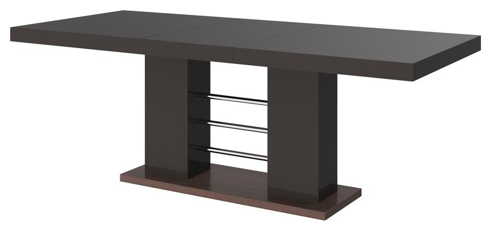 Uitschuifbare Eettafel Linosa 160cm tot 260cm Hoogglans Bruin