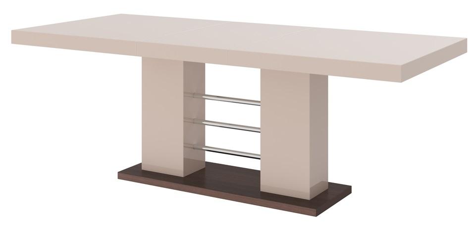 Uitschuifbare Eettafel Linosa 160cm tot 260cm Hoogglans Cappuccino
