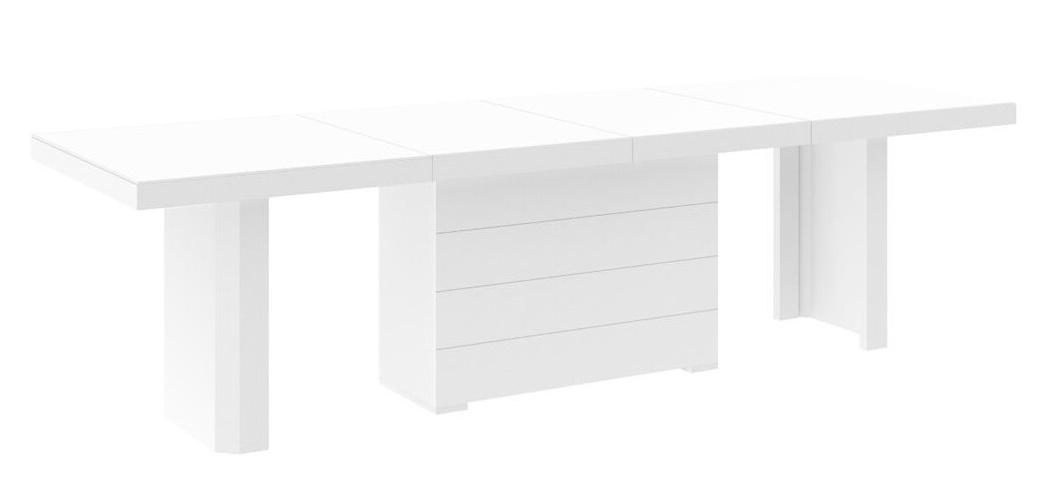 Uitschuifbare Eettafel Lokosta 160cm tot 412cm - Hoogglans Wit
