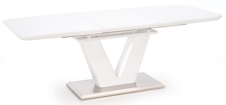 Home Style kopen? Scoor Uitschuifbare eettafel Mistral 160 tot 220 cm breed in wit voor Eetkamer>Eettafels>Eettafels met het meeste voordeel