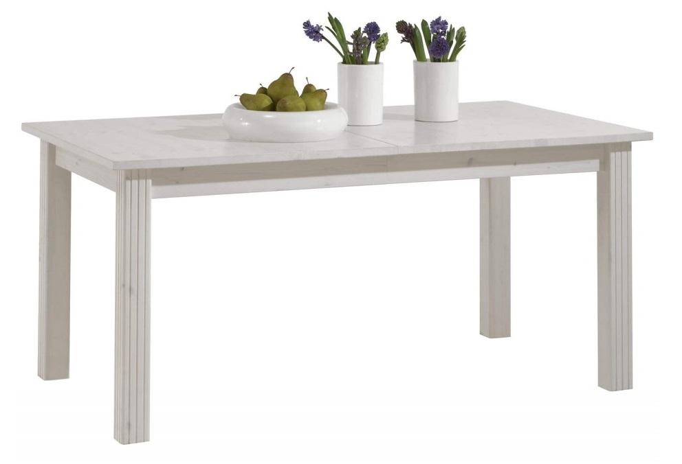 Uitschuifbare eettafel Monaco 204 tot 248 cm breed in wit whitewash