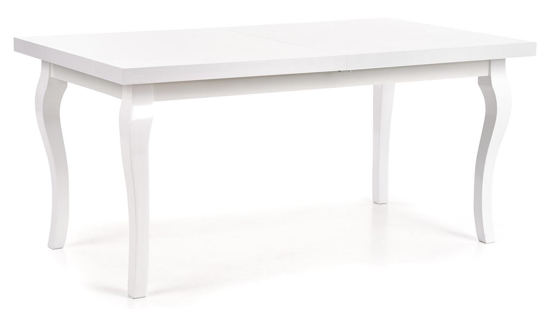 Uitschuifbare eettafel Mozart 160 tot 240 cm breed in wit
